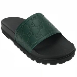 Gucci 431070 Guccissima Leather green Sandals