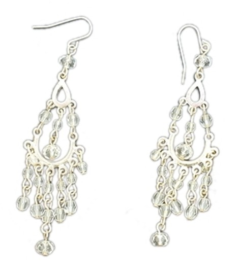 Other Faux silver & crystal earrings