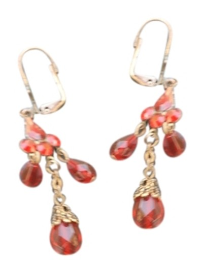 Preload https://item5.tradesy.com/images/red-crystalbrushed-bronze-earrings-2292974-0-0.jpg?width=440&height=440