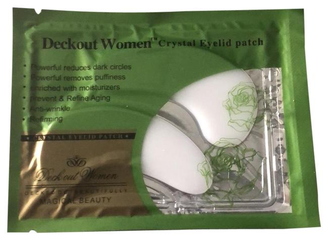 Item - White Crystal Slid Patch Cosmetic Bag