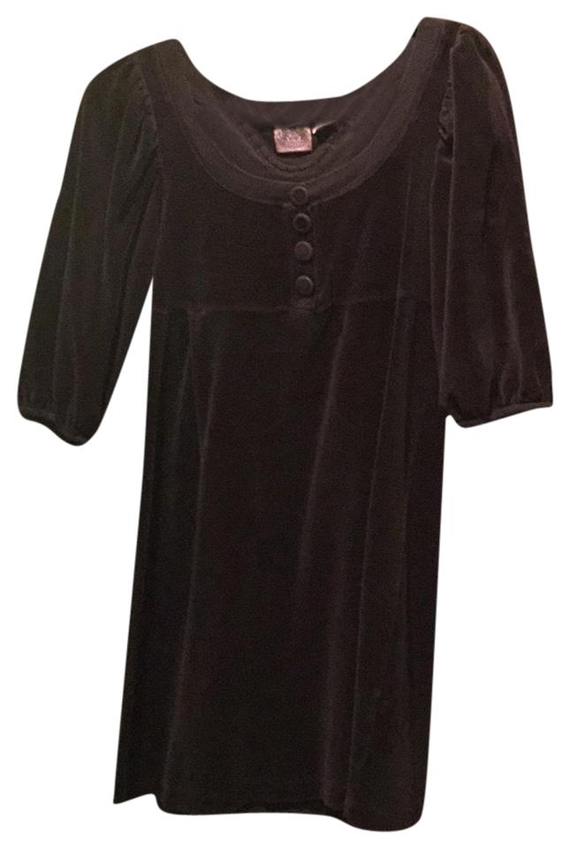 9e56c50420b2 Juicy Couture Chocolate Brown Short Casual Dress Size Petite 4 (S ...
