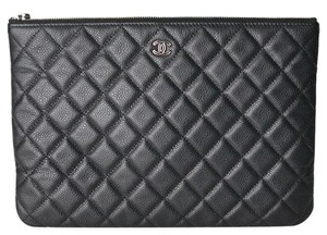 f871b221f890 Chanel O Case Quilted O Case Black Clutch