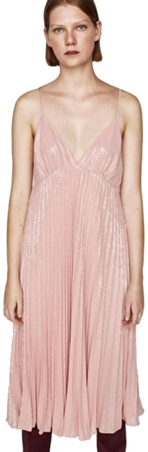 Item - Pink Sequin Long Night Out Dress Size 8 (M)