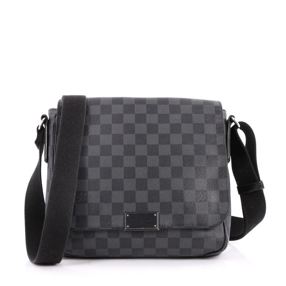 cb42398f9224 Louis Vuitton District Damier Graphite Pm Black Canvas Messenger Bag ...