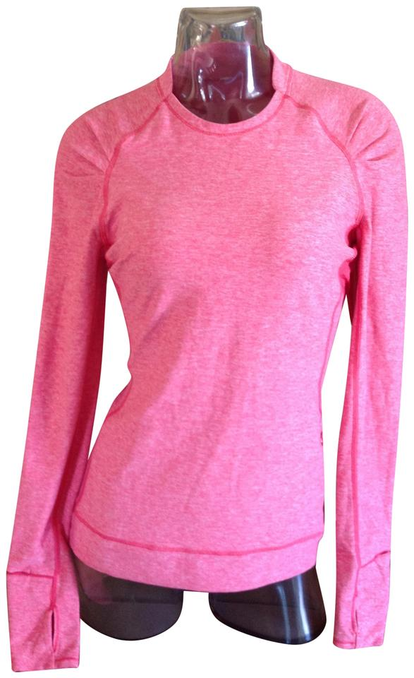90b12a1e8c81e Lululemon Pink Think Fast Ls Heathered Boom Juice Activewear Top. Size  8  ...