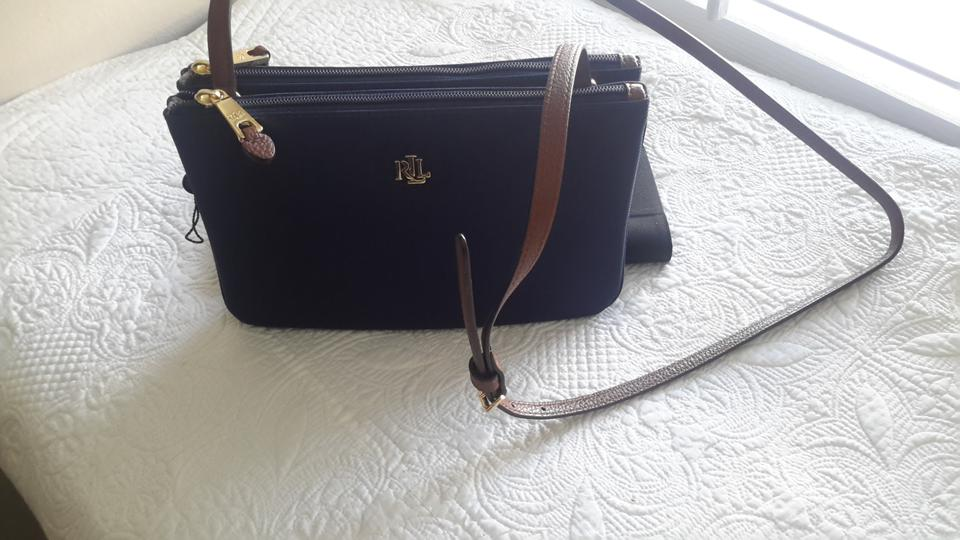 ea012c0db3a4 Ralph Lauren Bainbridge Tara 431611976017 Navy Nylon Cross Body Bag ...