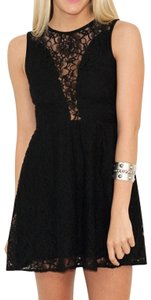For Love & Lemons Sleeveless Lace Mesh A-line Dress