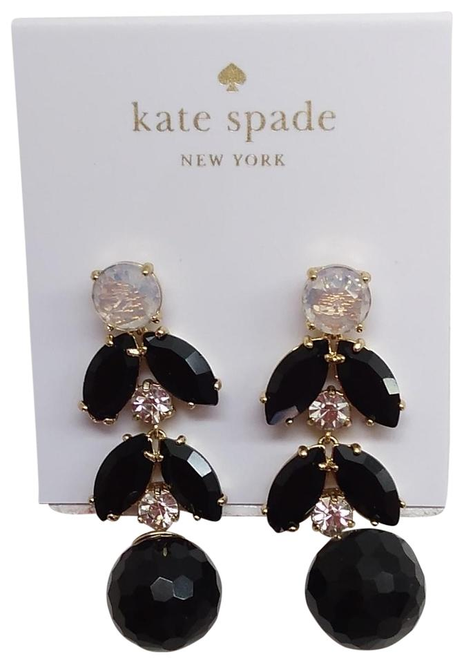 Kate Spade New Black Rhinestone Dangle Earrings