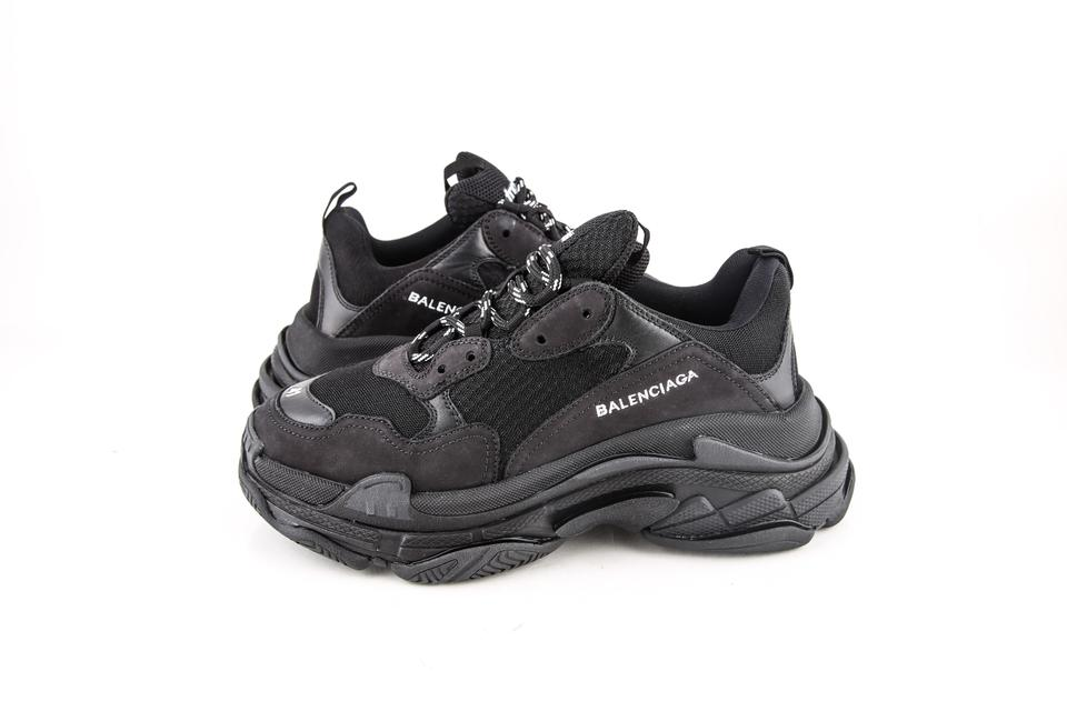 86afc05e7ae0a Balenciaga   Black Triple S Trainers Shoes Image 0 ...