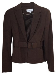 Calvin Klein Brown Calvin Klein Skirt Suit