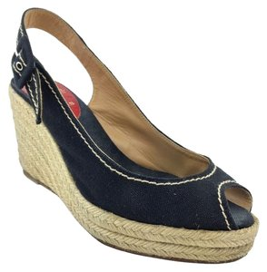 Christian Louboutin Wedge Espadrille Black Wedges