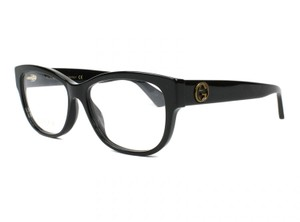 Gucci NEW Gucci GG0098O Black Queen Bee Cat Eye Logo Eyeglasses Frames