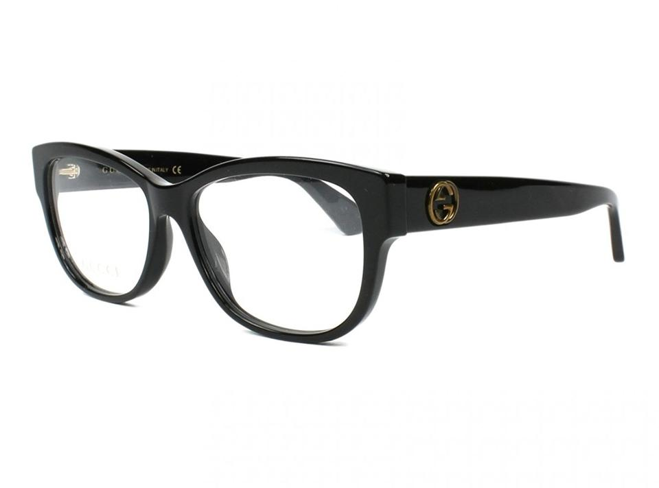 8da2895be6 Gucci Black New Gg0098o Queen Bee Cat Eye Logo Frames Sunglasses - Tradesy