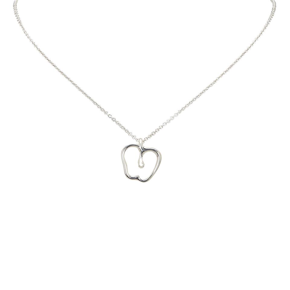Tiffany co silver open apple pendant necklace tradesy silver open apple pendant necklace mozeypictures Image collections