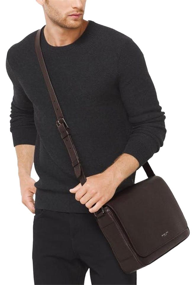 8ac17ce7749ac3 Michael Kors Men Men's Pebbled Leather Classic Mk Men Cross Body Bag Image  0 ...