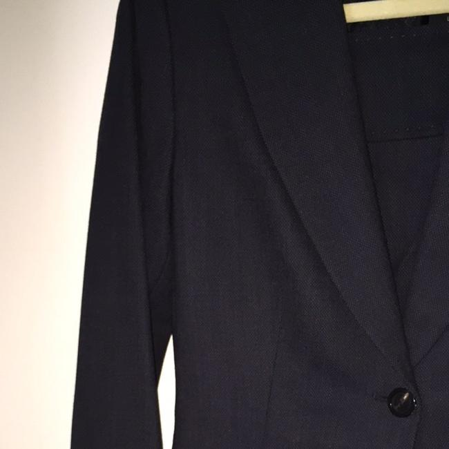 Elie Tahari Navy Tailored Pencil Skirt With Longer Jacket