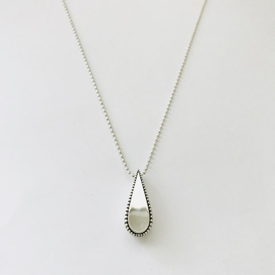 Lagos sterling silver imagine small teardrop pendant necklace tradesy 12345678910 mozeypictures Images