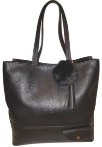J.Crew Refurbished Excellent Condition Leather Extra-large Tote in Black