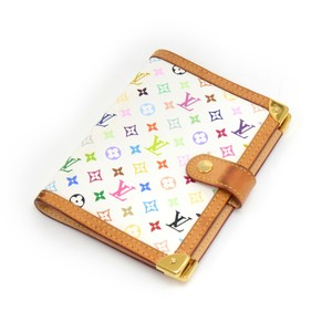 Louis Vuitton Louis Vuitton Agenda PM White Multicolor Monogram Canvas Agenda Cover