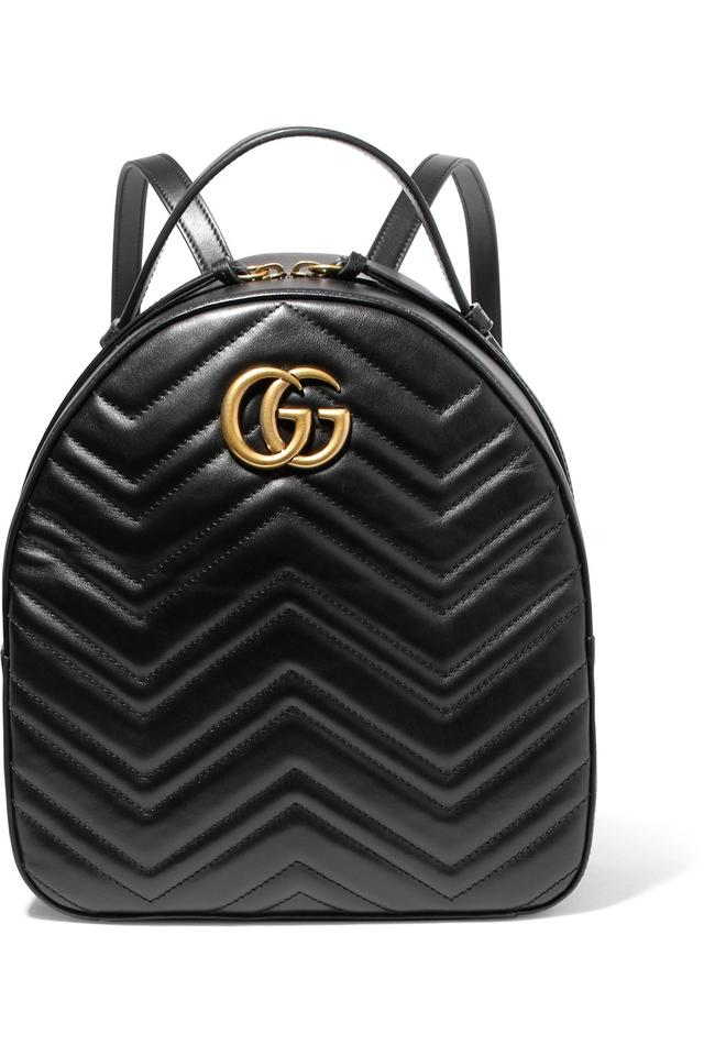 984167ec7 Gucci Marmont - Gg Quilted Black Leather Backpack - Tradesy