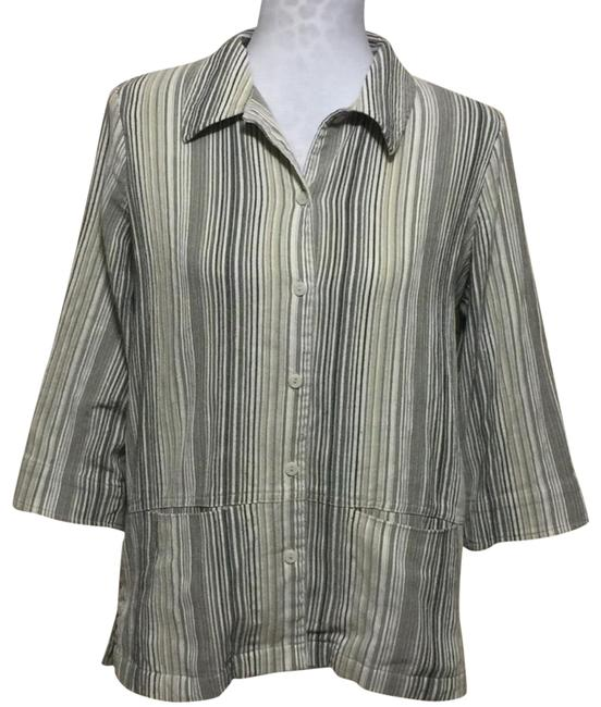 Preload https://img-static.tradesy.com/item/22930748/allison-daley-vintage-linen-blend-blazer-size-10-m-0-1-650-650.jpg