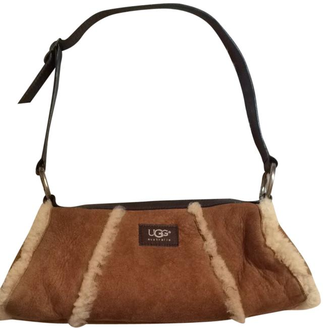 Item - Classic Brown Waxy Suede Trimmed In Smooth Supple Leather Gold Finishing Hardware Logo Jacquad Lining Baguette