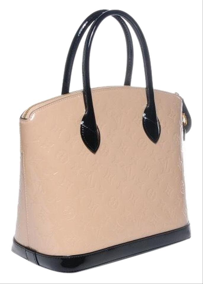 81329099744a Louis Vuitton Lockit Monogram Embossed Vernis Calf Cream and Black ...