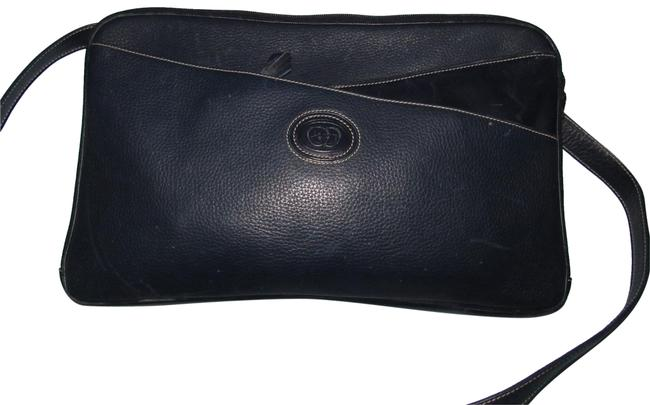 Item - Vintage Purses/Designer Purses Shades Of Navy In Smooth and Textured Leather Cross Body Bag