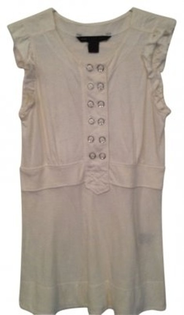 Preload https://item2.tradesy.com/images/marc-by-marc-jacobs-white-elegant-chic-casual-tunic-size-2-xs-22931-0-0.jpg?width=400&height=650