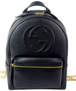 Gucci Gold Chain Soho Logo Backpack