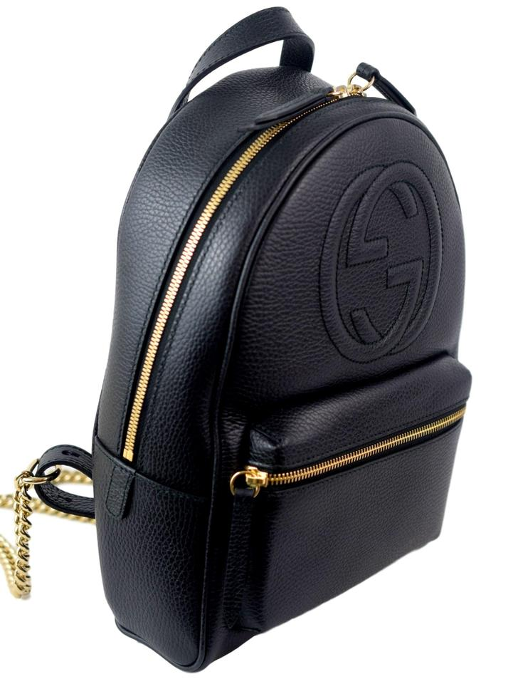 c99ff095a99 Gucci Soho 431570 with Chain Strap Black Leather Backpack - Tradesy