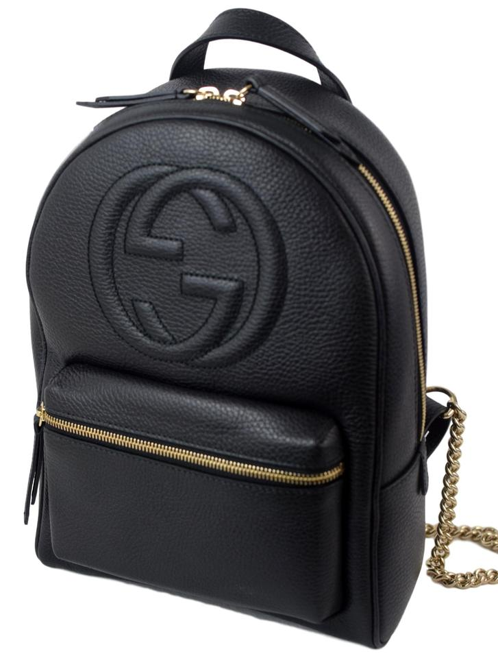 9239fdfb6 Gucci Soho 431570 with Chain Strap Black Leather Backpack - Tradesy