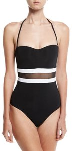 Jet Set JETS by Jessika Allen Classique Contrast Bandeau One-Piece Swimsuit