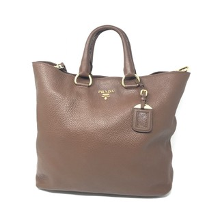 Prada Ladies Genuine Leather Tote in Brown
