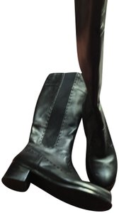 Trotters Leather Riding black Boots
