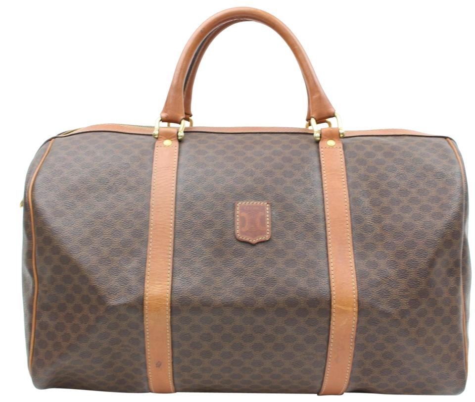 50b95c9f95e1 Céline Macadam Boston Monogram Duffle 865882 Brown Coated Canvas ...