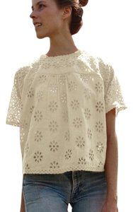 Dôen Vintage Embroidered Top White