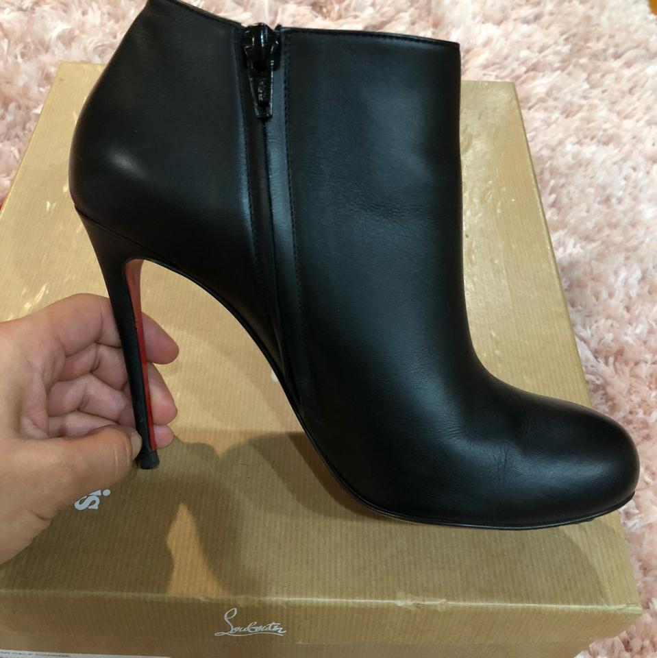 Christian Louboutin Black Bellissima 100 Calf Charme BootsBooties Size EU 37 (Approx. US 7) Regular (M, B) 58% off retail