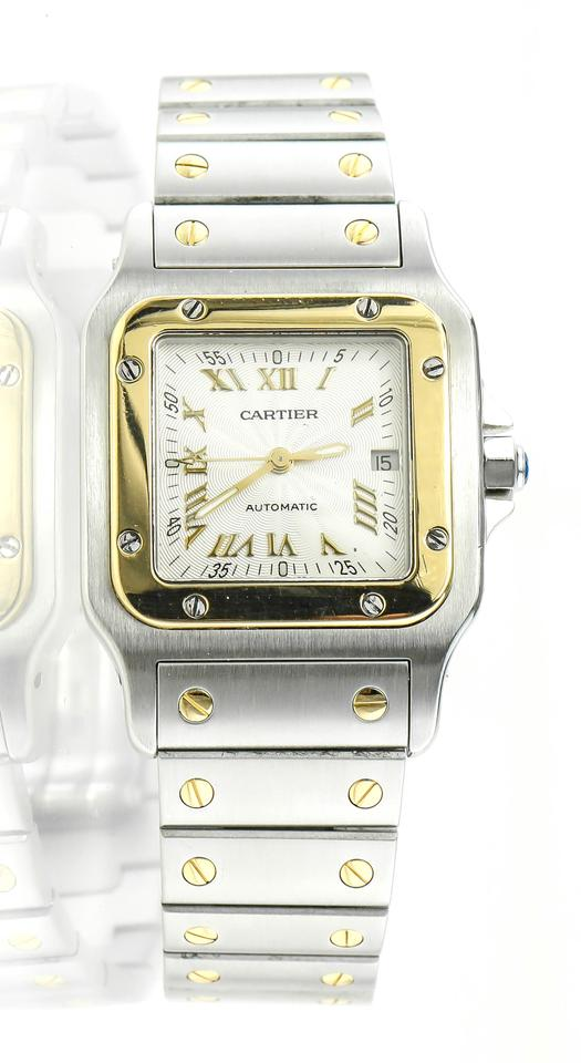 b127d2e3974 Cartier * Two Tone Ref.2319 Santos Galbee Gold and Steel Watch - Tradesy
