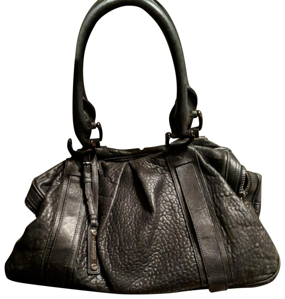 c8542bfc26a0 Burberry Large Prorsum Knight Satchel Handbag Black Leather Hobo Bag ...