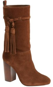 Vince Camuto Suede Leather Tassels Ankle Brown Boots