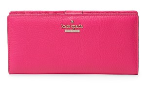5101d2023d7e0 Kate Spade kate spade Jackson Street Stacy Large Peony Pink Leather Wallet
