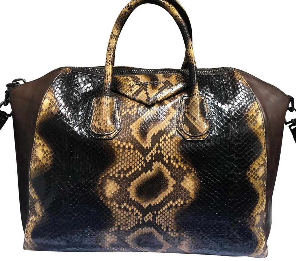 e6e956bd6b7 Givenchy Python Snakeskin Antigona Medium Satchel in Brown Image 0 ...