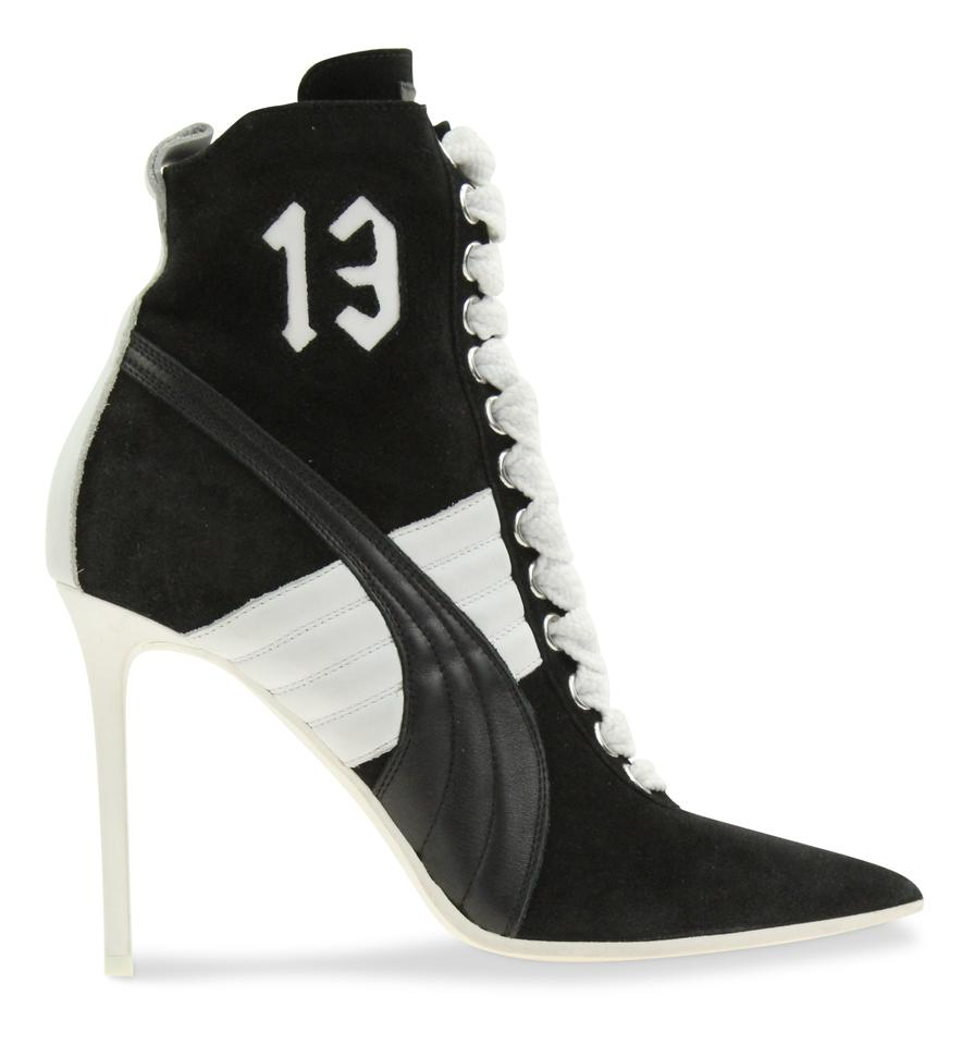 6a4ec5e0a6ef FENTY PUMA by Rihanna Pointed Toe Suede Leather Sneaker Black Boots Image 0  ...