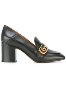 Gucci Marmont Peyton Logo Mule Stiletto black Pumps