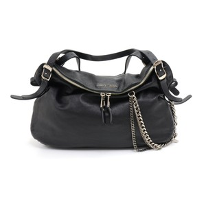 Jimmy Choo Lambkin Leather Shoulder Bag