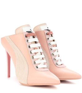 FENTY PUMA by Rihanna Nude Suede Laether Mules Pink Pumps