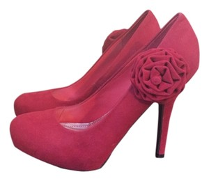 Bamboo Red Pumps
