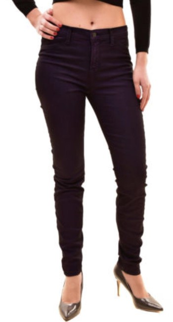 Item - Purple Dark Rinse Women's Super Nebula 815i596 Skinny Jeans Size 25 (2, XS)