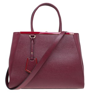 Fendi 2jours Leather Tote in red